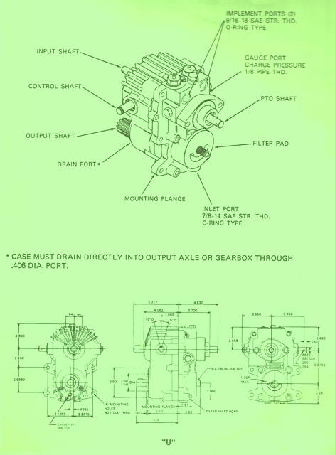 Sundstrand Sauer Danfoss Series 15 Uline Pump