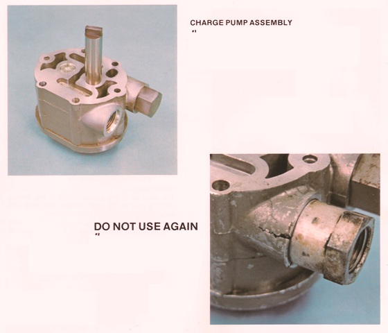 Sundstrand Sauer Danfoss Series 20 Good and Bad Charge Pumps