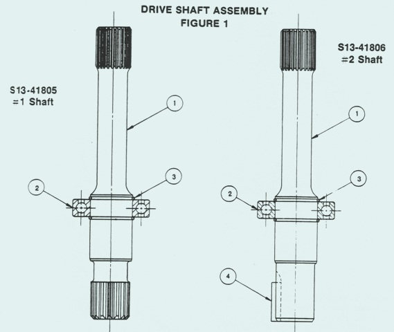 Denison Goldcup Model Series C & A Drive Shaft Installation