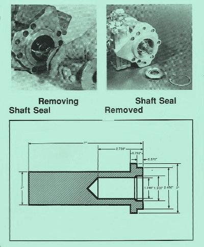 Sundstrand Sauer Danfoss M46 Shaft Seal Removal