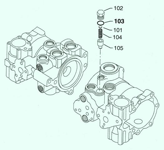 Sundstrand Sauer Danfoss Series M46 Tandem Charge Pressure Relief Settings