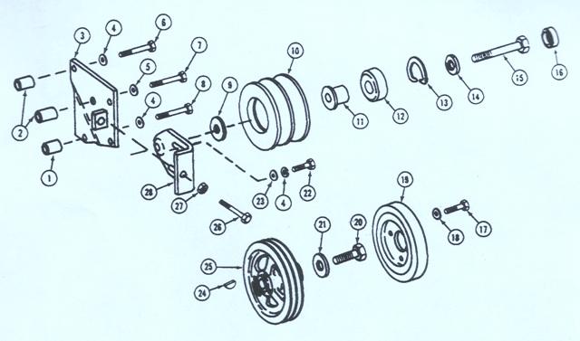John Deere Crawler 755B Fan Belt Tightener