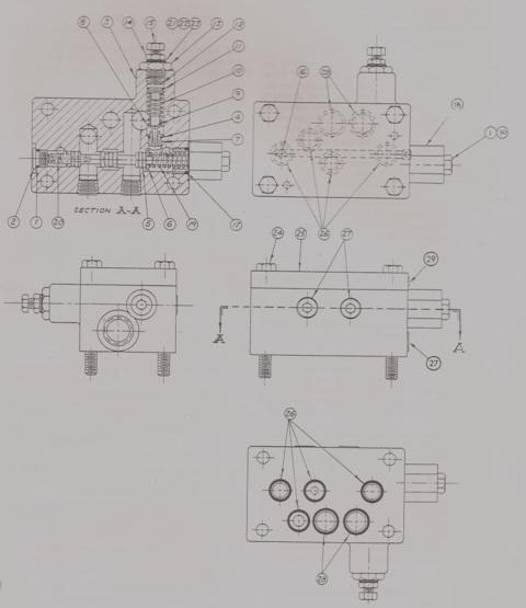 Denison Hydraulic Model 46 Compensator Valve Assy