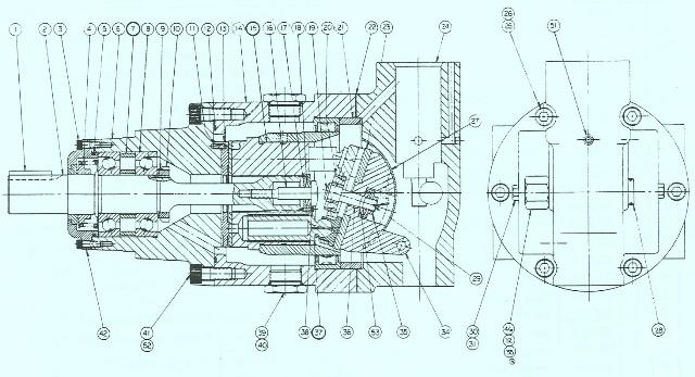 Denison Hydraulic Pump Series 2-700 / 3-700 Rocker Cam – Port Block