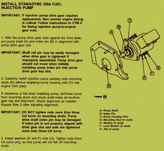 John Deere 755B Crawler – How to Install Fuel Injection Pump