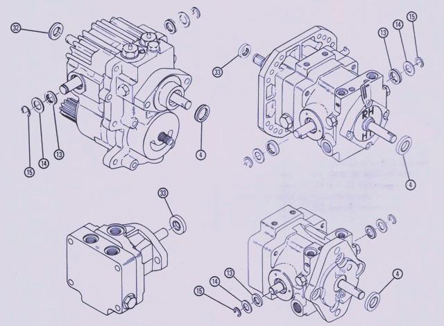Sundstrand Sauer Danfoss Hydraulic Series 15 – Various Shaft & Trunnion Replacements