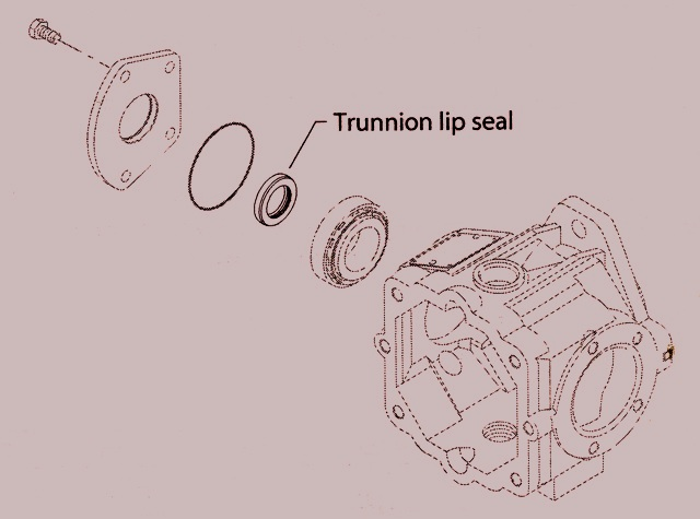 Sundstrand Sauer Danfoss Series 40 M46, M25/35/44 Trunnion Lip Seal