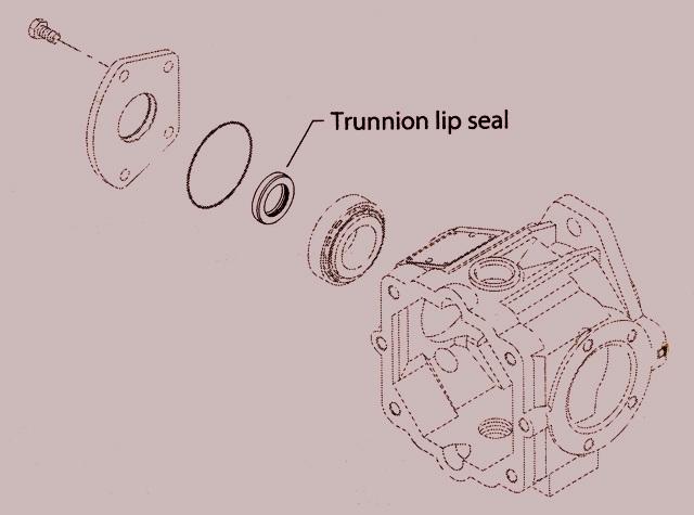 Sundstrand Sauer Danfoss Series 40 M46, M25/35/44 Trunnion Lip Seal