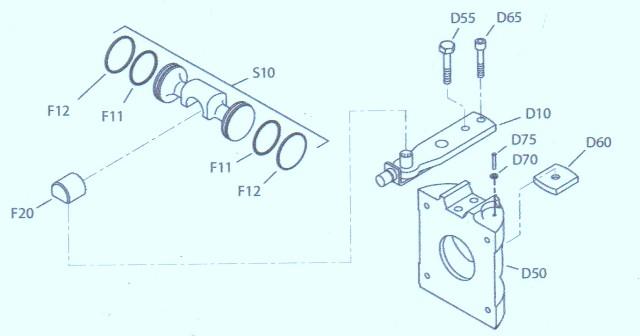 Sundstrand Sauer Danfoss Series 90-55cc Servo Arm